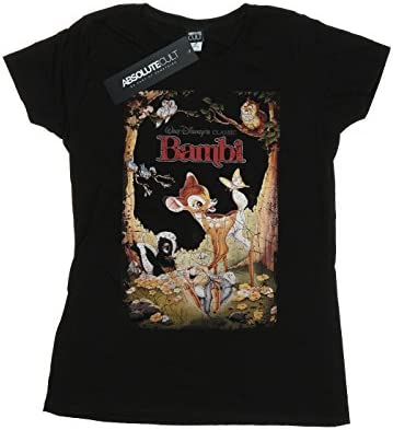 Disney Women/'s Bambi Thumper Montage Boyfriend Fit T-Shirt
