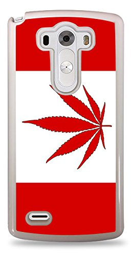 competitive price 674f4 d6e3b Amazon.com: Canada Weed Flag Black Hardshell Case for LG G3: Cell ...