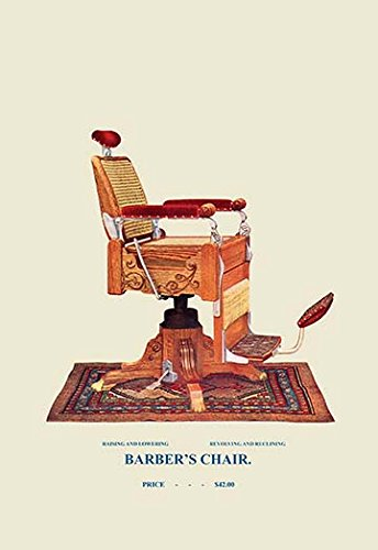 Buyenlarge-0-587-04539-6-P1827-Wicker-Barbers-Chair-91-Paper-Poster-18-x-27