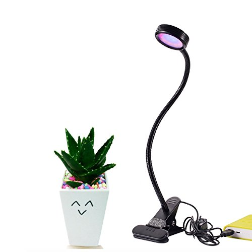 Sumaote Led Grow Light 8W Plant Lamp 2 Level with 360° Flexible Gooseneck Office Indoor Greenhouse by Sumaote