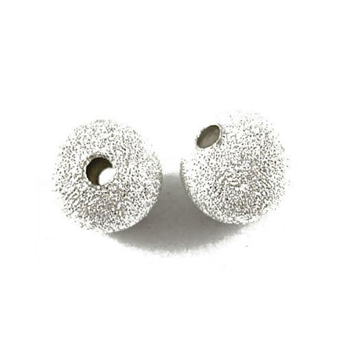 (Pack Of 150+ Silver Plated Brass 4mm Stardust Twinkle Round Beads - (HA01918) - Charming Beads)