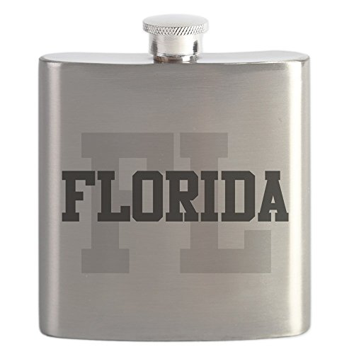 CafePress - FL Florida - Stainless Steel Flask, 6oz Drinking (Party City Fl)