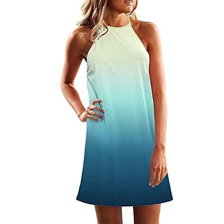 DOLDOA Women's Summer Beach Halter Neck Dress Sale Ladies Holiday Floral Sun Dresses 41vof1B5yrL