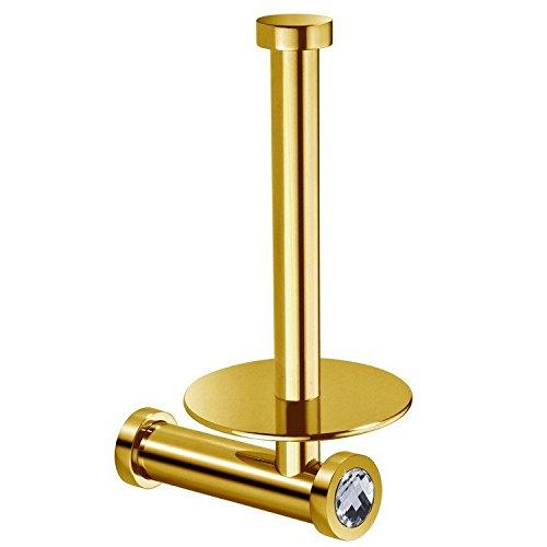 W-Luxury Moonlight Vertical Spare Toilet Paper Holder W/Swar