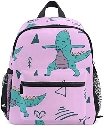 (fohoo) 子供リュック キッズバックパック おしゃれ かわいい 韓国風 幾何学模様 ドラゴン 男の子 女の子 軽量 大容量 3-8歳 保育園 幼稚園 小学生 入園・入学祝い ハーネス付き