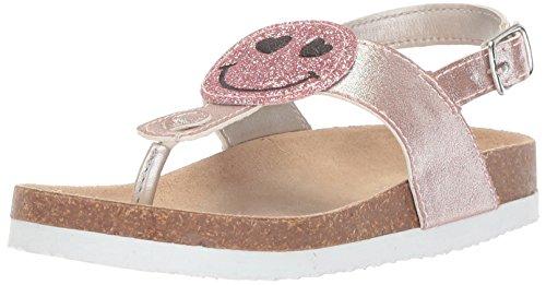 The Children's Place Girls' TG Smile Luna Flat Sandal, Pink, TDDLR 8 Medium US Infant