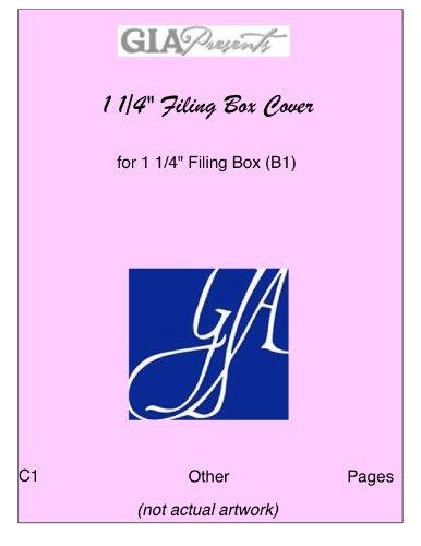 "Download 1 1/4"" Filing Box Cover - for 1 1/4"" Filing Box (B1) - GIA MUSIC PDF"