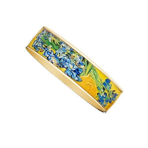 Van Gogh Irises Bangle Bracelet 3/4