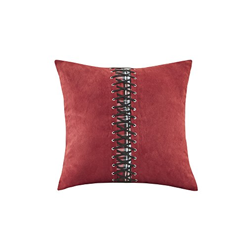 Woolrich Williamsport Plaid Fashion Shams Throw Pillow, Casual Square Decorative Pillow, 18X18, Red