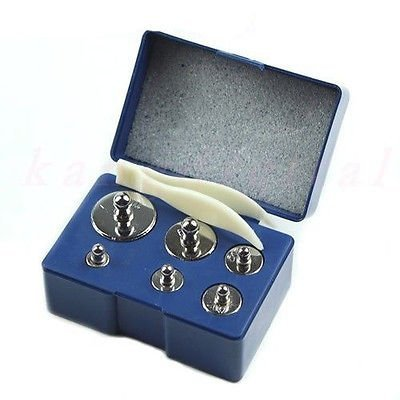 eopzoltm-6-pcs-calibration-weight-set-5g-10g-20g-20g-50g-100g-205g-total-weight