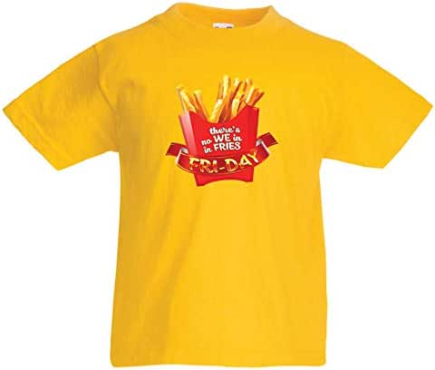 lepni.me Kids T-Shirt There is no We in Fries Friday Outfit French Fry Lover