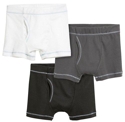 City Threads Boys' Boxer Briefs 100% Super Soft Cotton for Sensitive Skin Sensory Friendly SPD School Play Sports Active, 3-Packs, Basics, 4
