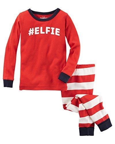 Price comparison product image OshKosh B'gosh Baby Boys' 2 Piece Elfie Snug Fit Cotton Pajamas,  Red,  12 Months