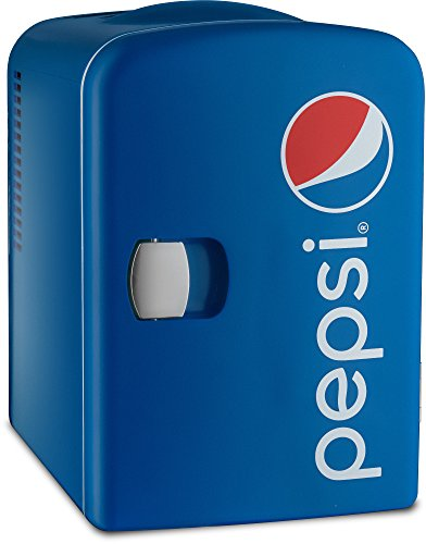 (Gourmia GMF660 Pepsi Thermoelectric Mini Fridge Cooler and Warmer - 4 Liter/ 6 Can - For Home,Office, Car, Dorm or Boat - Compact & Portable - AC & DC Power)