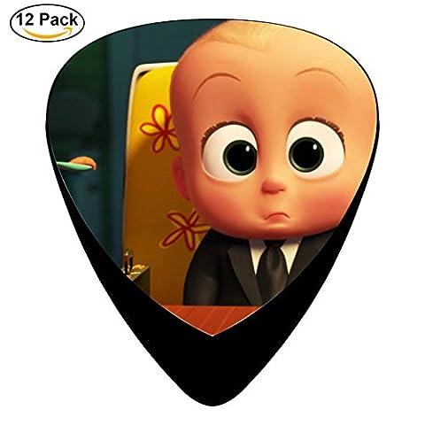The Boss Baby Guitar Picks Celluloid Medium 12 Pack Complete Cool Custom Assorted (Raiders Guitar Picks)