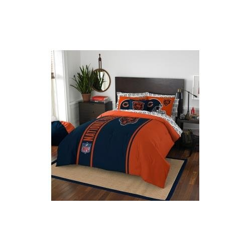 NFL Chicago Bears Soft & Cozy 7-Piece Full Size Bed in a Bag Set by Northwest