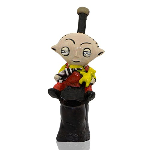(Handmade Tobacco Pipe Spongebob Hand Painted Art Collectible (STEWIE))