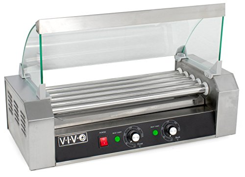 VIVO Electric 12 Hot Dog & Five (5) Roller Grill Cooker Warmer Machine with Cover (HOTDG-V205) Review