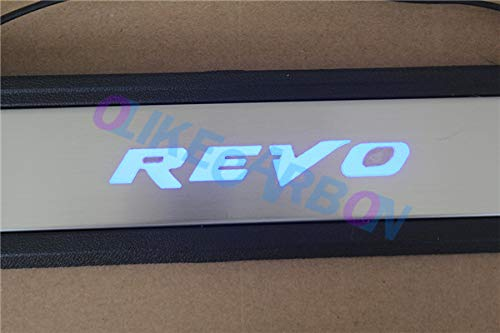 OLIKE for Toyota Hilux Revo 2015-2016 AN120/AN130 OEM Led Door Sill Scuff Plate Guard Sills Protector Trim