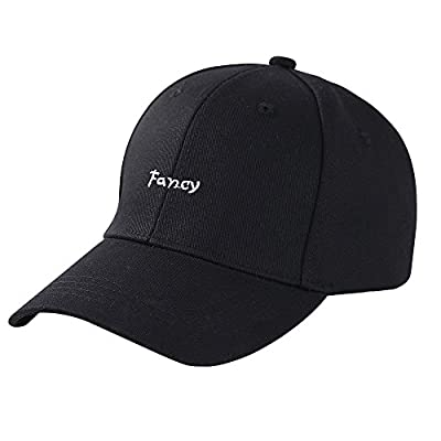 ZLYC Women Cute Embroidered Cotton Baseball Cap Adjustable Strapback Hat