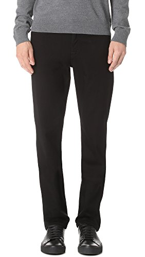 7 For All Mankind Men's Luxe Sport Slimmy Jeans, Black, 31 Luxe Cotton Collection