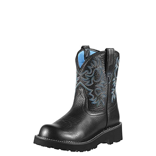 Ariat Women's Fatbaby Original Boots Black Deertan 9.5 B