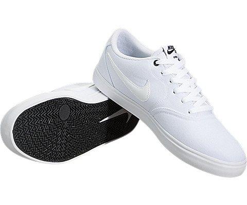 Nike Men's SB Check Solar Canvas Skate Shoe, Sneaker, White/White, 10 US M by Nike (Image #2)