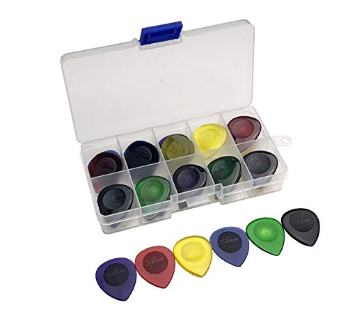 Clear Large Size Bass Rock Heavy Metal Guitar Picks Plectrum 1.0/2.0/3.0 mm With Pick Case Storage Box ()