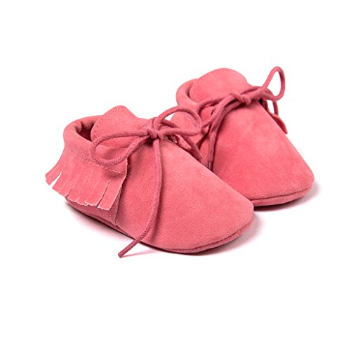 Top-Sell Niños Infantes Borlas Decoración Zapatos De Bebé Anti Slip Soft Sole Prewalker Sandía
