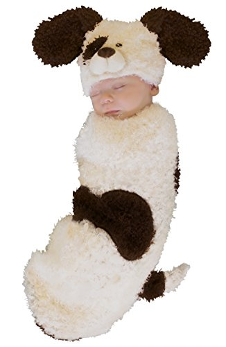 Princess Paradise Baby's Cuddly Puppy Deluxe Swaddle Costume, As Shown, 0/3M -