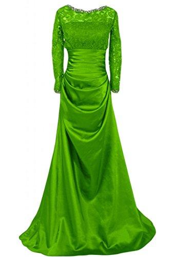 raso da maniche da lunghe a abiti con eleganti in donna sposa fodera tacco abiti da Sunvary per Verde basso donna qPtBF5xw