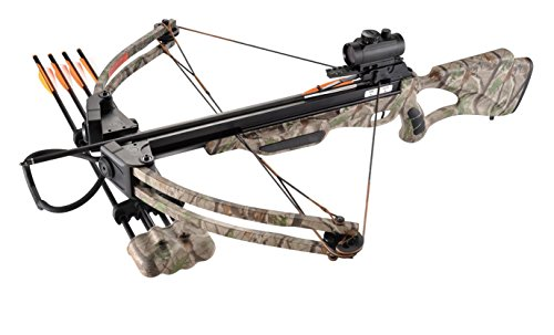 XGear 175lbs 285fps Crossbow Archery Bow Hunting Equipment with Scope, Quiver and Arrows