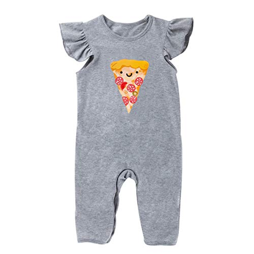 Leyeet Baby Toddler Pizza Ruffles Romper Newborn Casual Jumpsuit Outfit (Size : -