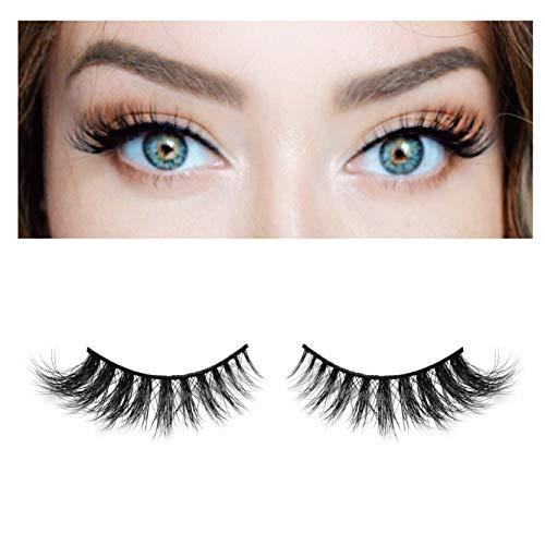 BEPHOLAN False Eyelashes 3D Mink Lashes Natural Mink Eyelashes Reusable Handmade Lashes Fake Eyelashes (XMZ04)