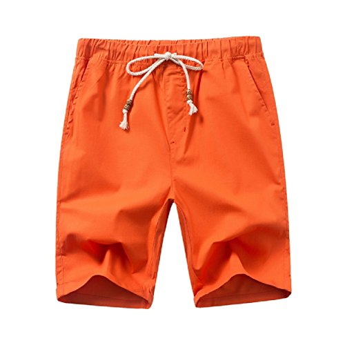Highisa Mens Sport Trunks Bechwear Drawstring Linen Board Sh