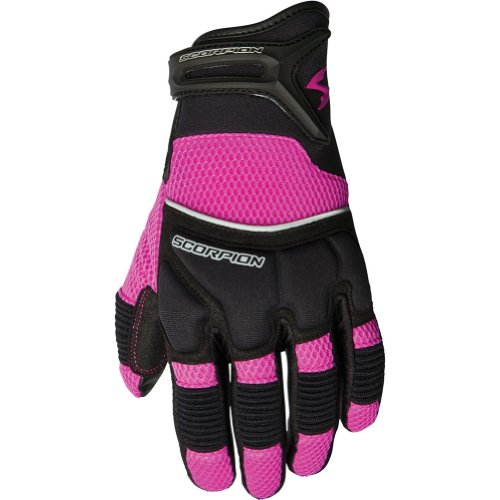 Scorpion Coolhand II Women's Leather/Textile Vented Street Racing Motorcycle Gloves - Pink/Medium