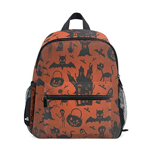Halloween Cats And Pumpkin School Backpack for Boys Kids Primary School Bags Children Backpacks -
