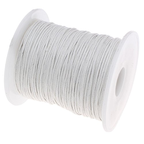 UnCommon Artistry Waxed 1mm Cotton Cord 100 Meters White ()