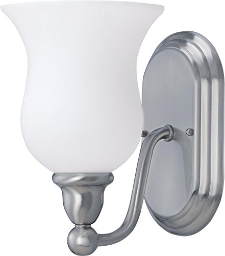 Nuvo 60/1812 Glenwood 1-Light Vanity, Brushed Nickel 1lt Fluorescent Wall Sconce