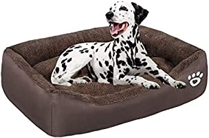 GoFirst Dog Beds Large Washable with Zipper Cover, Orthopedic Dog beds Basket for Medium and Large Dogs, Non-slip Bottom...