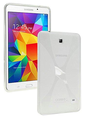 Galaxy Tab 4 7.0 Case,MAKEIT CASE X Design Slim TPU Gel Rubber Soft Skin Case Cover for Samsung Galaxy Tab 4 7.0 inch T230 (Clear)