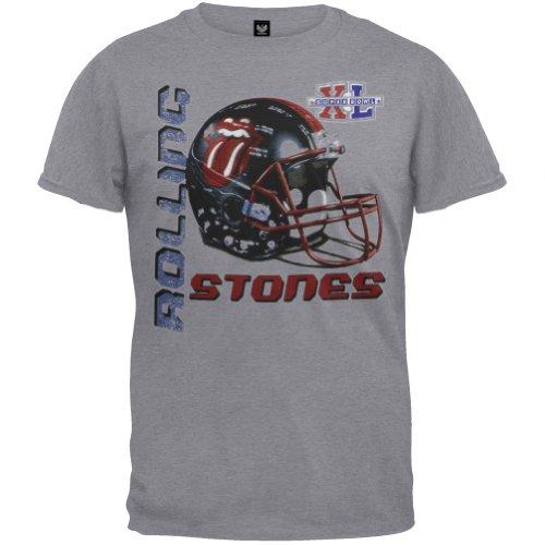 Rolling Stones - Mens Super Bowl T-shirt Large Grey