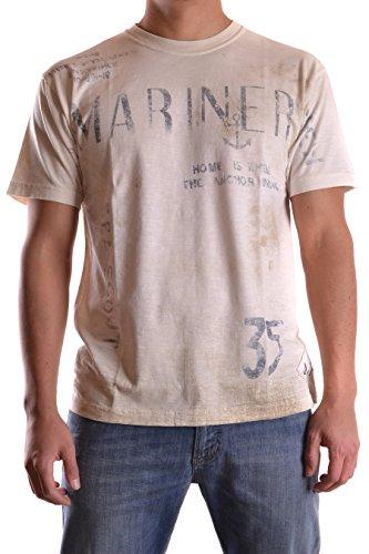 Armani Jeans Herren C6H4BHMP1 Beige Baumwolle T-Shirt