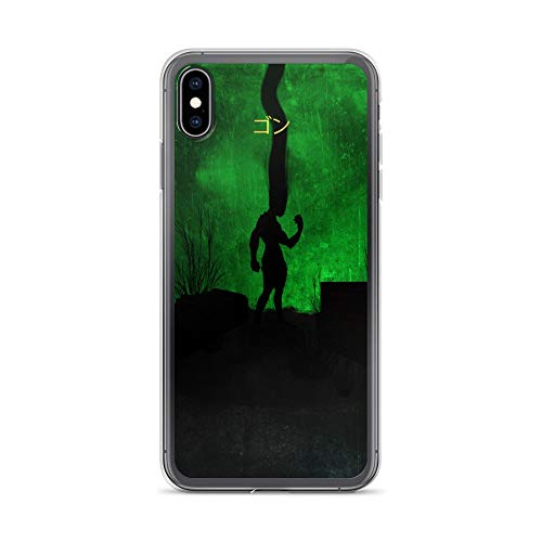 iPhone Xs Max Case Anti-Scratch Japanese Comic Transparent Cases Cover Gon Hunterhunter Minimalistic Anime & Manga Graphic Novels Crystal Clear]()