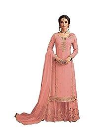 stylishfashion Indian Pakistani Bollywood Designer Women Palazzo Wear Salwar Kameez Sharara Style Salwar Suit for Women