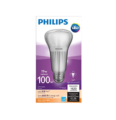 Philips 451906 100 Watt Equivalent A21 LED Light Bulb Soft White ...:Philips 451906 100 Watt Equivalent A21 LED Light Bulb Soft White, Dimmable  - - Amazon.com,Lighting