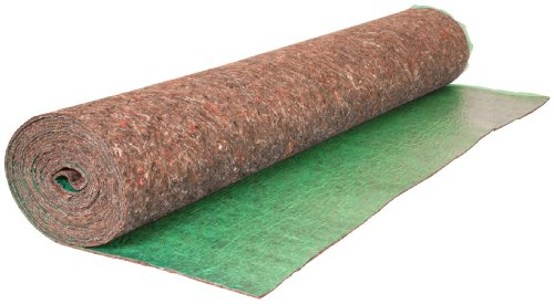 Roberts 70-190A 70-190 Super Felt Insulating Underlayment, 4 Mm T, 27-1/3 Ft L X 44 in W, Recycled Fiber, 100 Sq Roll