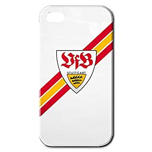 Famous Design FC VfB Stuttgart Theme Football Club Phone Case Cover For Iphone 4 3D Plastic Phone Case