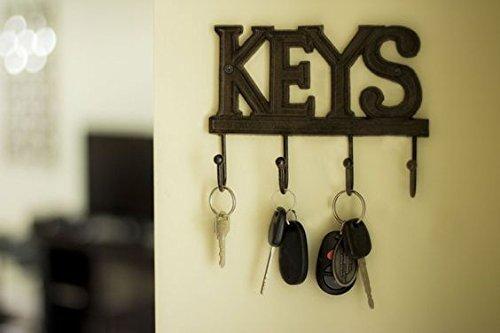 Key Holder - Keys - Wall Mounted Key Hook - Rustic Western Cast Iron ...