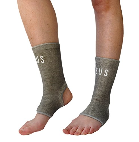 Comfort Foot Compression Sleeves By Susama (1 Pair) - Medium / Large Ankle Stabilizer for Basketball, Running. Relief (Best Crossfit Shoes)